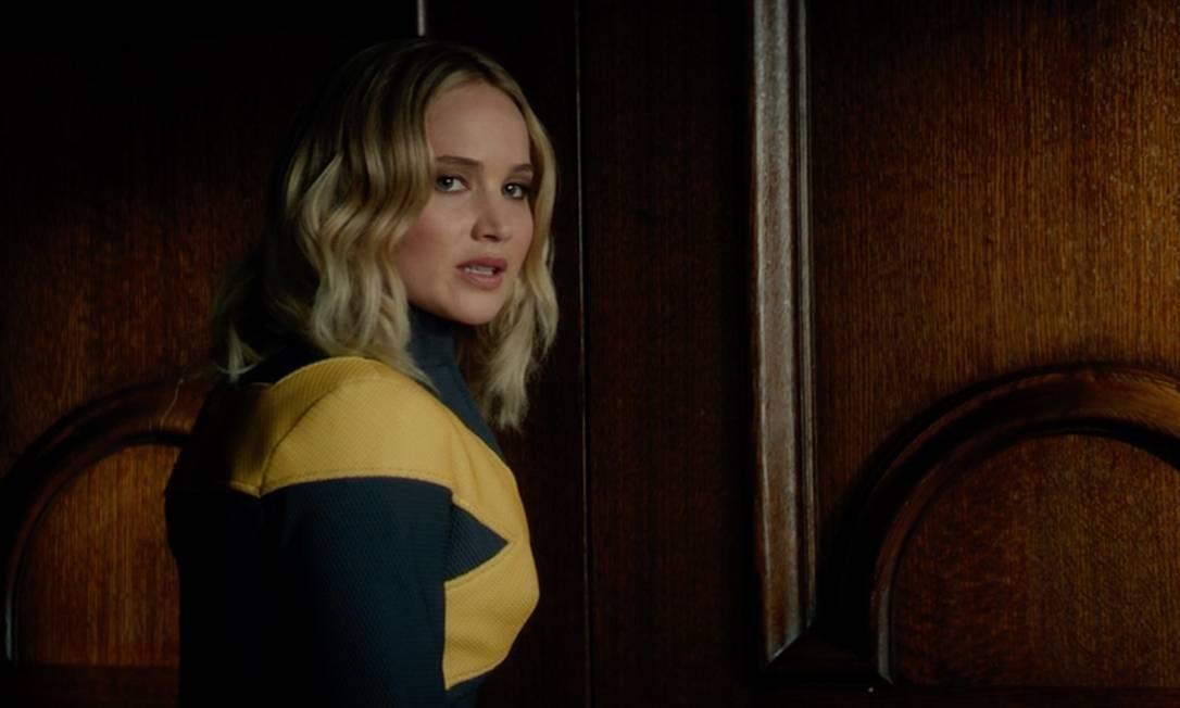 Jennifer Lawrence como Mística: atriz chegou a dar entrevistas dizendo que não interpretaria mais a mutante, mas mudou de ideia por causa dos fãs Foto: Divulgação