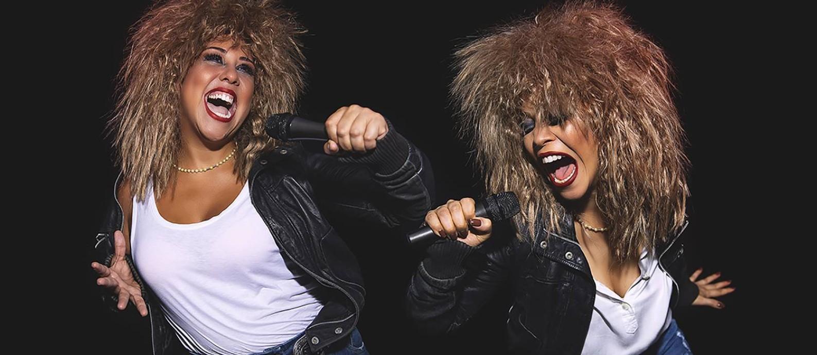 As atrizes Evelyn Castro e Kacau Gomes, em cena de