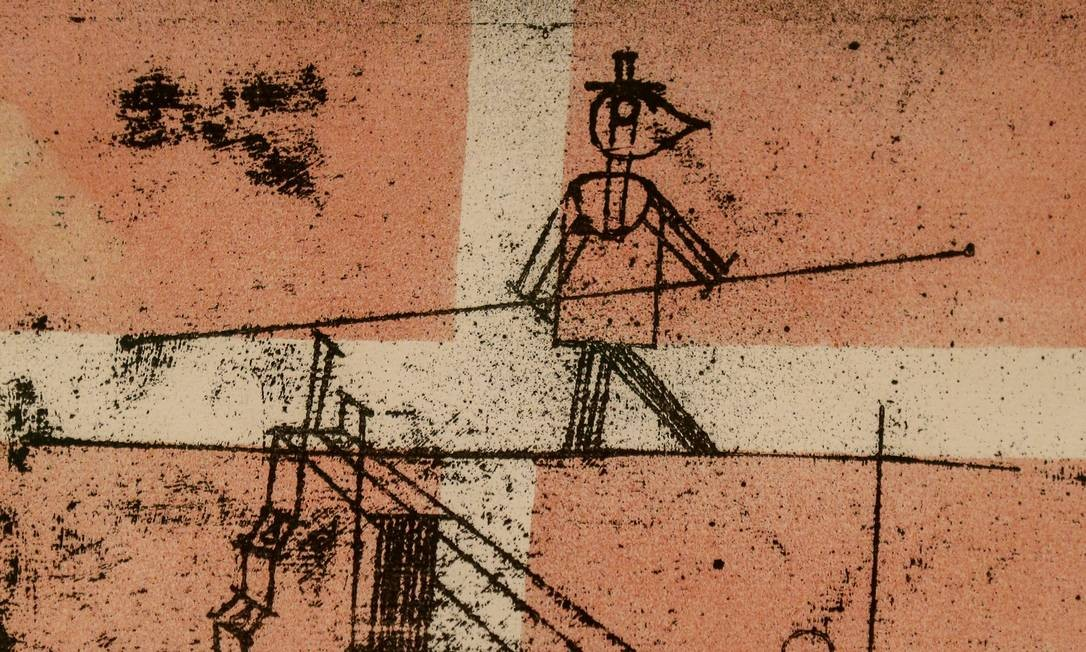 'Equilibrista' (1923), feita sob impacto da guerra, faz metáfora da condição humana Foto: Agência O Globo/Roberto Moreyra