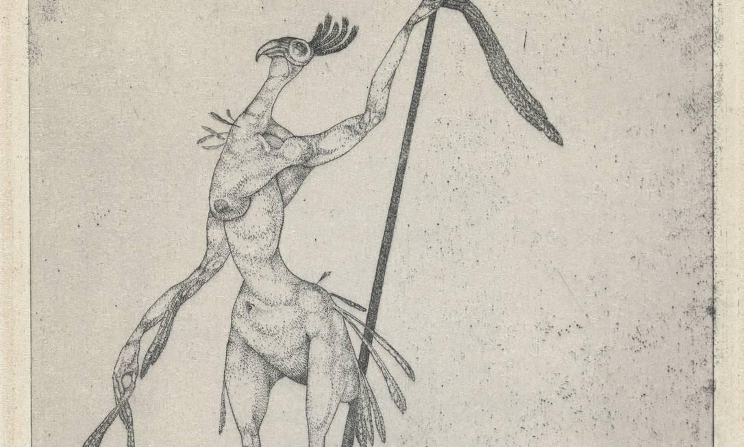 'Fênix idoso' (1905) faz parte da série de água-forte que o artista considera suas primeiras obras Foto: Zentrum Paul Klee