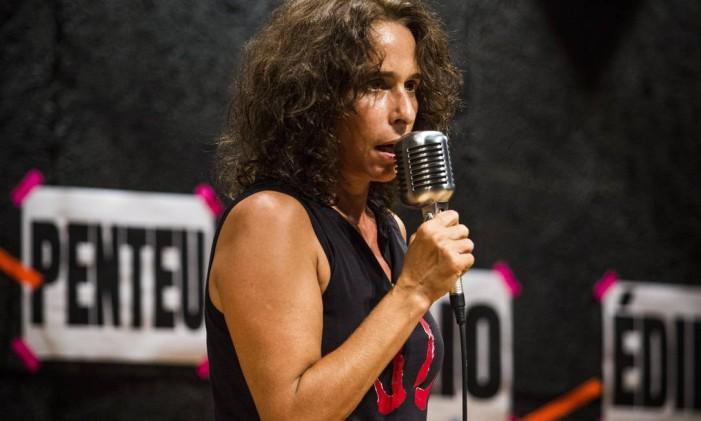 Andrea Beltrão, em cena da peça 'Antígona' Foto: Bárbara Lopes / Agência O Globo