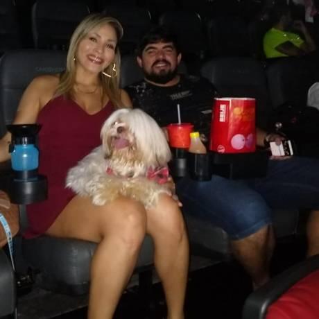 Público no cinema com cachorro: salas no Rio passam a permitir entrada dos animais Foto: Divulgação
