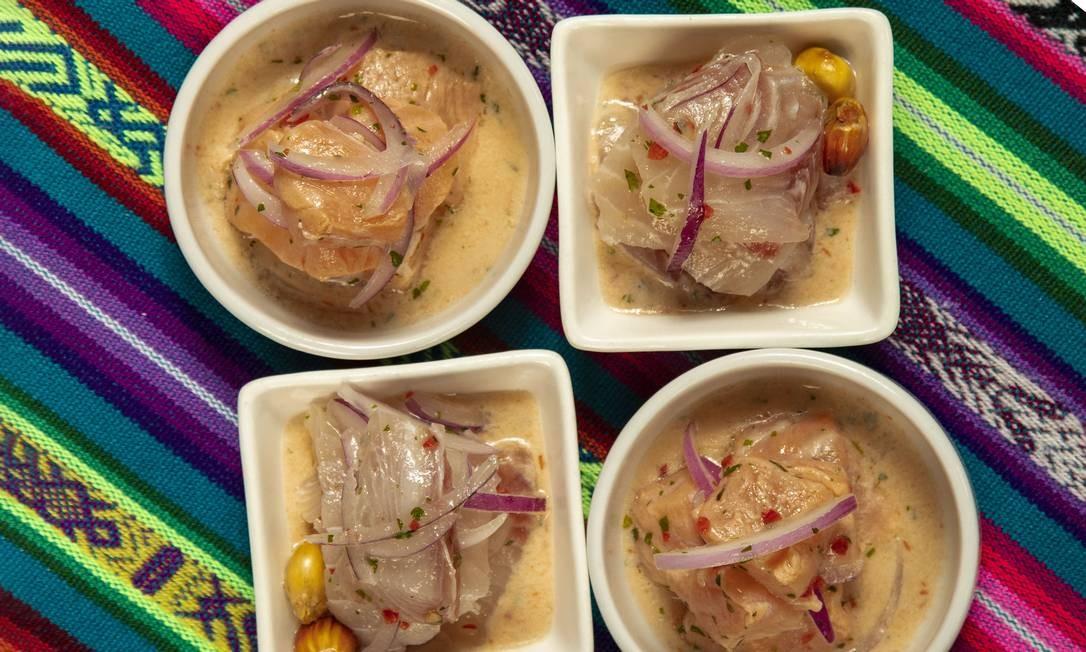 O ceviche é o carro-chefe da culinária peruana que também conta com chicharrones, tiraditos, causas, pollos a la brasa... Foto: Ana Branco
