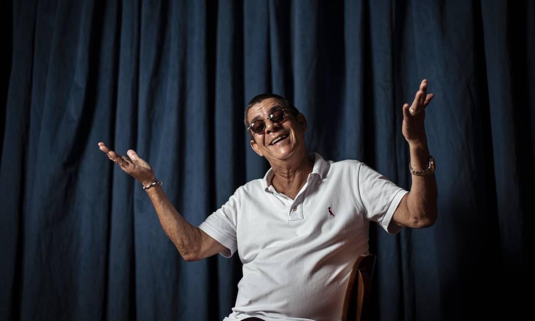 O cantor Zeca Pagodinho Foto: Hermes de Paula / Agência O Globo