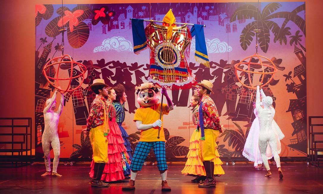 Cena do espetáculo infantil do Circo Turma da Mônica Foto: Divulgação