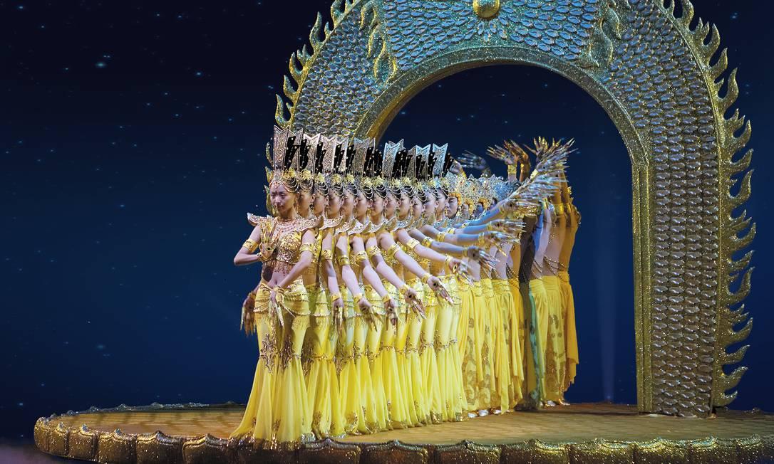 Cena do espetáculo 'My dream', do grupo China Disabled People's Performing Arts Troupe Foto: Divulgação