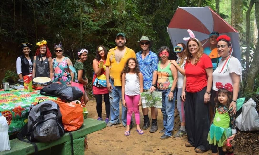 Voluntários do Parque Nacional da Tijuca, no último carnaval Foto: Divulgação