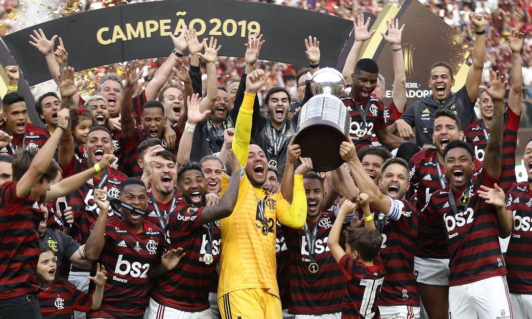 """""""Até o fim"""", do Globoplay, reconstrói a campanha do Flamengo na Libertadores de 2019 Foto: LUKA GONZALES / AFP"""
