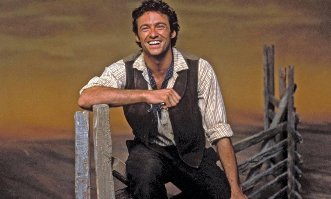 Hugh Jackman em cena do musical 'Oklahoma!' Foto: Simon Farrell / Divulgação
