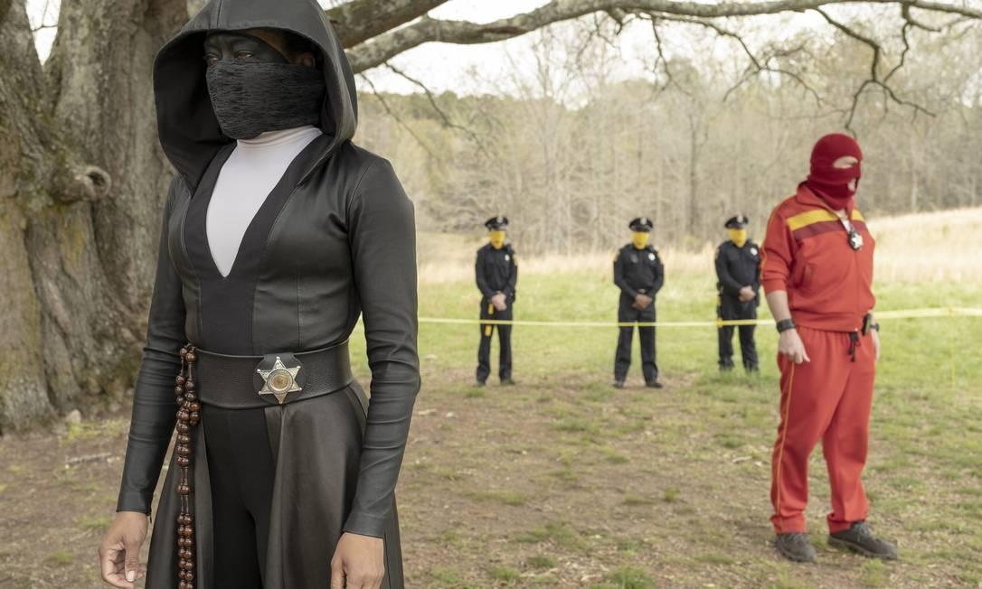 'Watchmen': série criada por Damon Lindelof, inspirado na minissérie em quadrinhos homônima de Alan Moore e Dave Gibbons. Foto: Divulgação