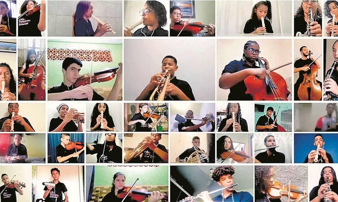 Alunos da Orquestra nas Escolas Foto: Reprodução