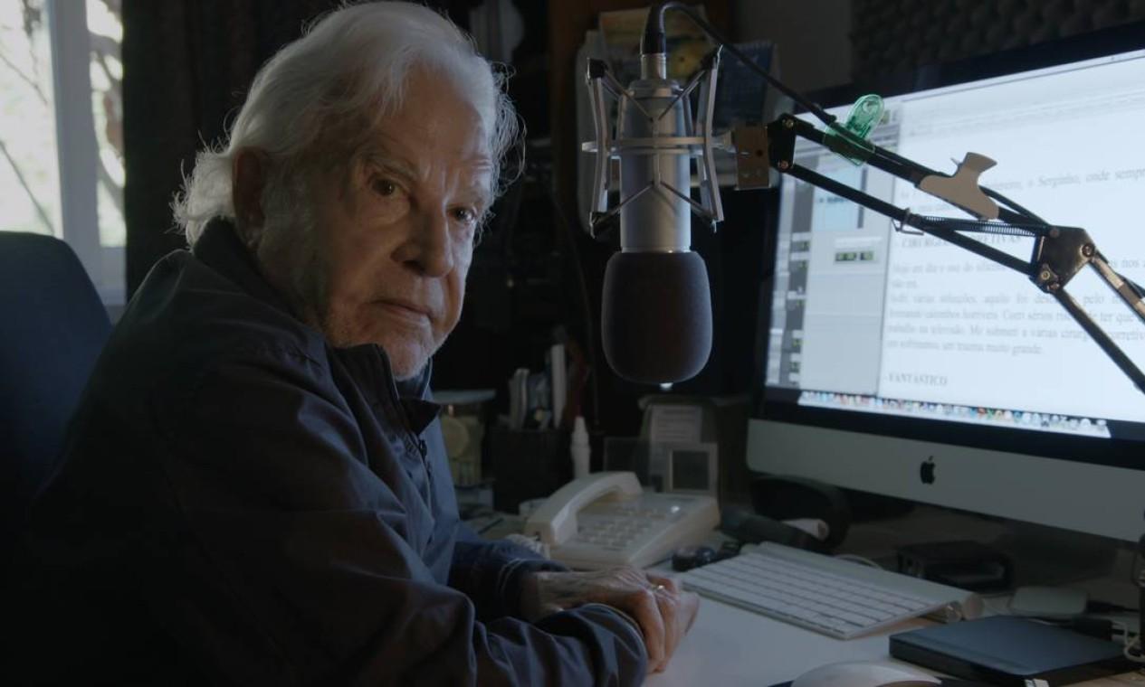 Cid Moreira é tema do documentário 'Boa Noite', dirigido por Clarice Saliby. Aos 91 anos, o homem que apresentou, por quase 30 anos, o 'Jornal nacional' abre as portas de seu inconsciente. Foto: Divulgação