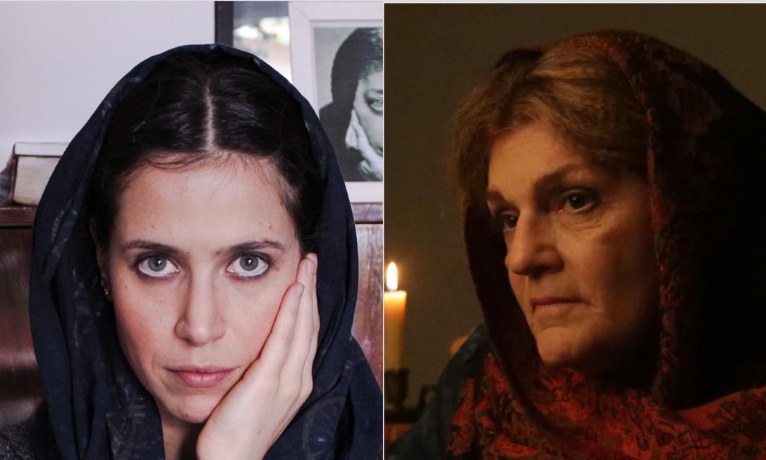 As atrizes Mel Lisboa e Beth Zalcman: ambas encarnam, em peças diferentes, a escritora Helena Blavatsky Foto: Divulgação