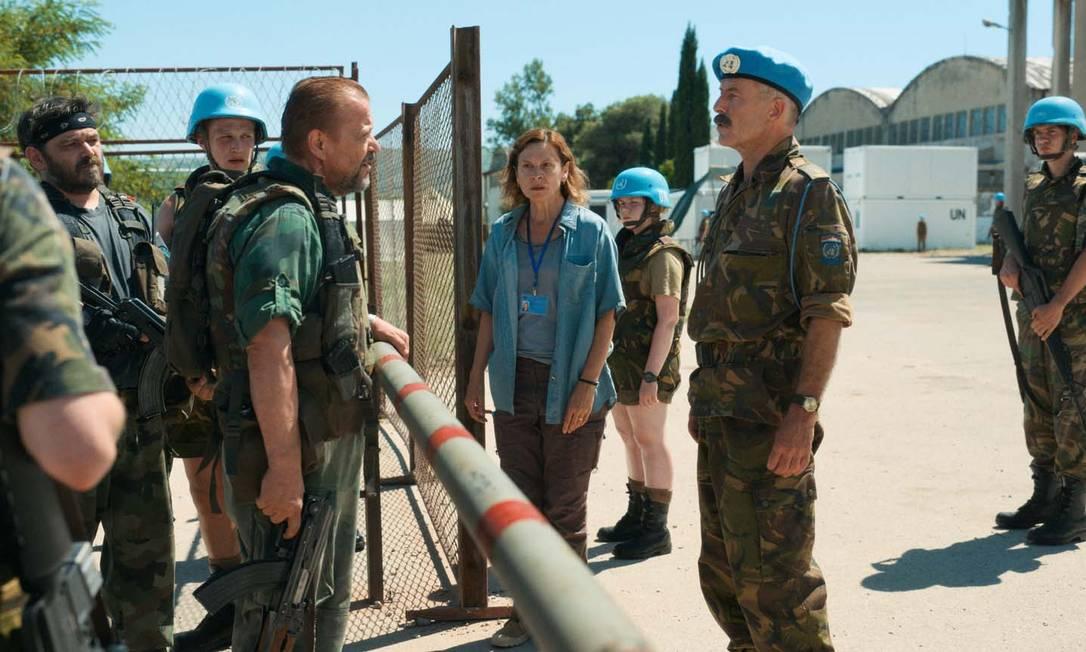 Cena do filme 'Quo vaids, Aida?': produção joga luz sobre o massacre de Srebrenica, em julho de 1995 Foto: Divulgação