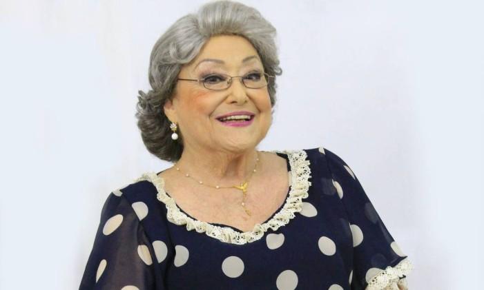 A atriz Suely Franco em cena da peça on-line 'Ela e eu — Vesperal com chuva' Foto: Divulgação
