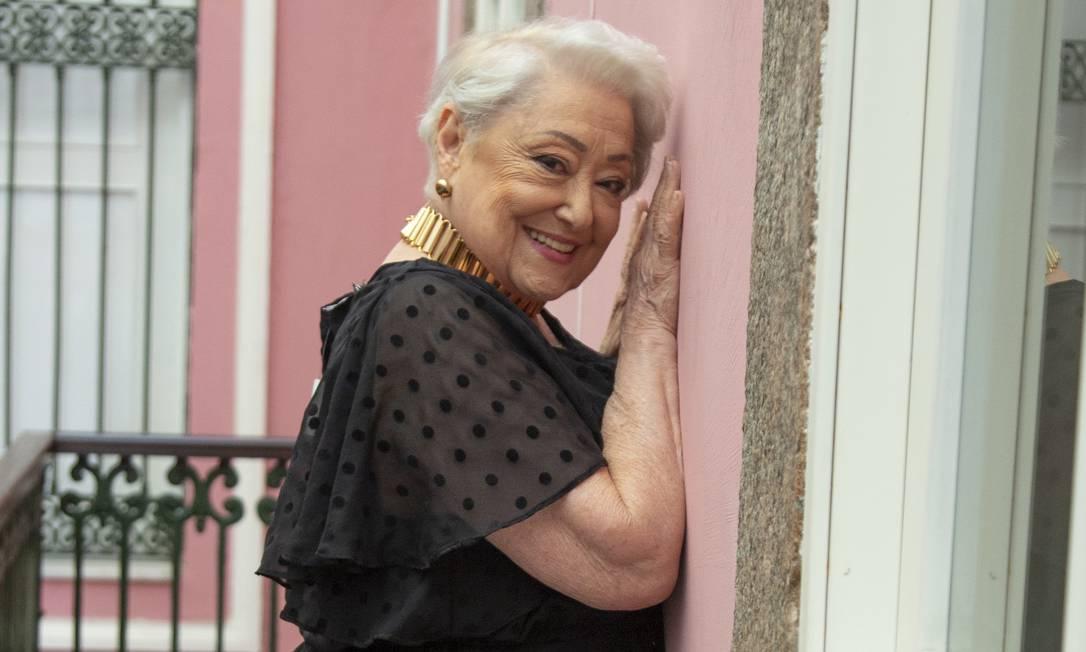 A atriz Suely Franco, num registro de 2019, quando integrou o elenco da novela 'A dona do pedaço' Foto: Edu Rodrigues / Divulgação