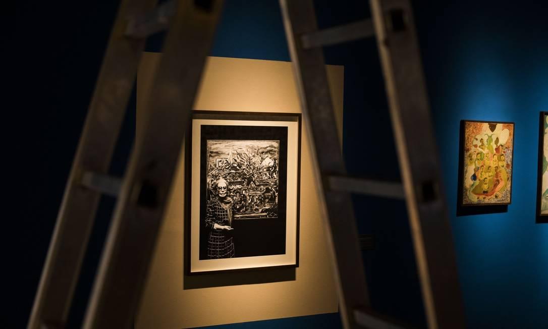 Exposição sobre a vida e o trabalho de Nilse Silveira no Centro Cultural do Banco do Brasil Foto: Guito Moreto / Agência O Globo