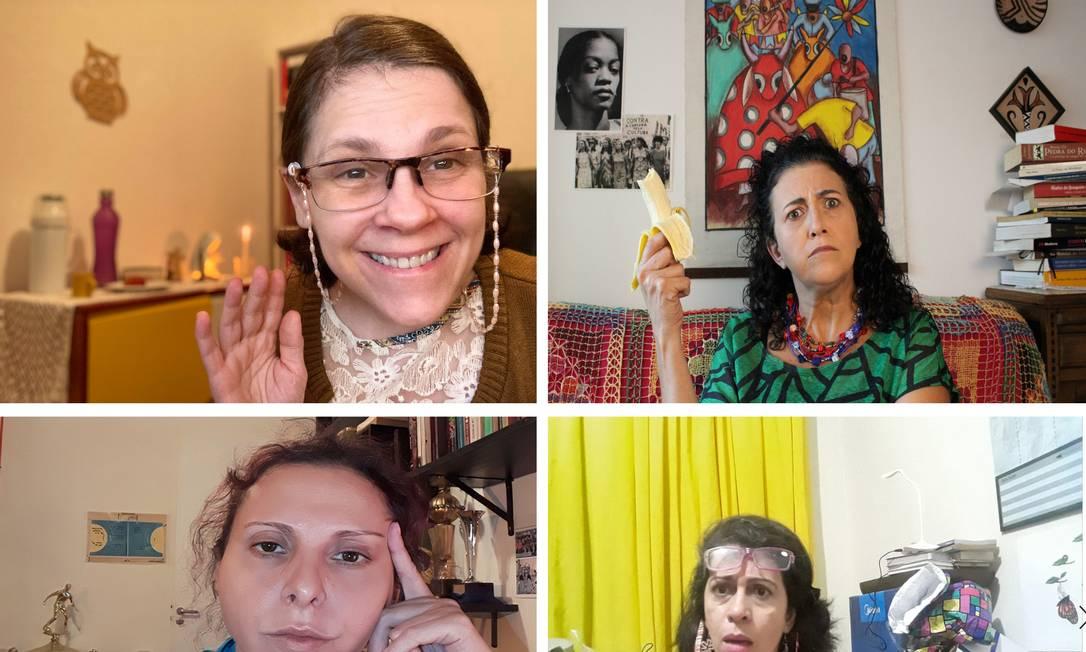 Cena da montagem virtual de 'Conselho de classe', premiada peça de Jô Bilac: estreia Foto: Divulgação
