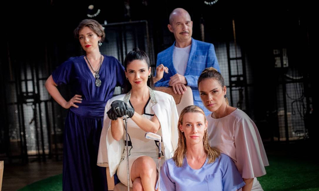 O elenco da peça 'Alethea dreams' Foto: Janderson Pires / Divulgação