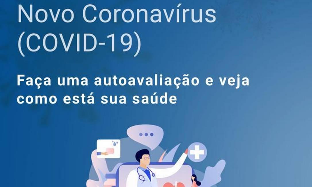 Teste online do Einstein permite autoavaliação inicial sobre sintomas do novo coronavírus. Foto: Reprodução/Hospital Israelita Albert Einstein